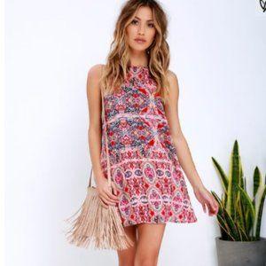 LULUS - Red Print Dress